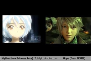 Mytho (from Princess Tutu) Totally Looks Like Hope (from FFXIII)