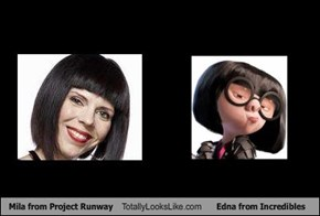 Mila from Project Runway Totally Looks Like Edna from Incredibles