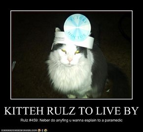 KITTEH RULZ TO LIVE BY