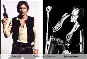 han solo  Totally Looks Like jim morrison