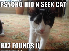 PSYCHO HID N SEEK CAT  HAZ FOUNDS U