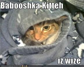 Babooshka Kitteh  iz wize