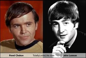 Pavel Chekov Totally Looks Like John Lennon