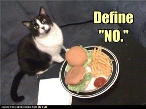 """Define """"NO."""""""