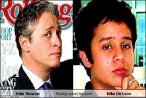 John Stewart Totally Looks Like Nike De Leon