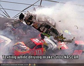 Texting while driving makes it to NASCAR