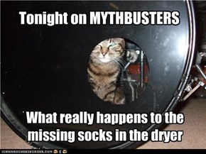 Tonight on MYTHBUSTERS
