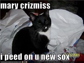 mary crizmiss  i peed on u new sox