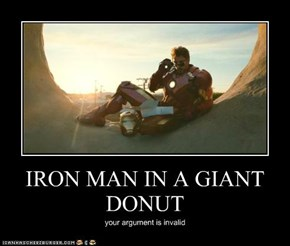 IRON MAN IN A GIANT DONUT