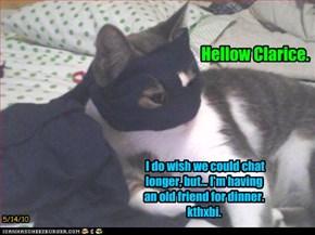 Hellow Clarice.
