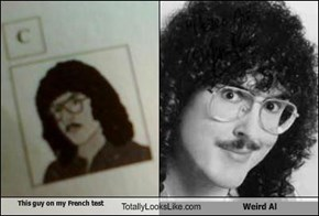 This guy on my French test Totally Looks Like Weird Al