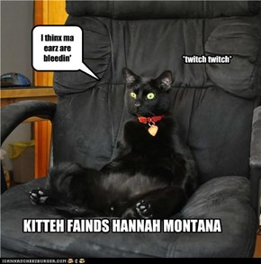 KITTEH FAINDS HANNAH MONTANA