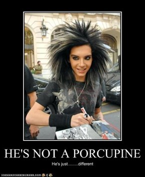 HE'S NOT A PORCUPINE