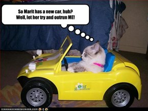 So Marit has a new car, huh?  Well, let her try and outrun ME!