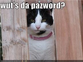 wut's da pazword?