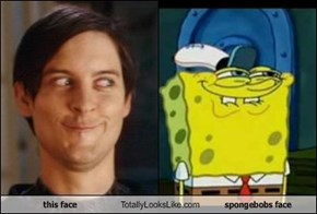 this face Totally Looks Like spongebobs face