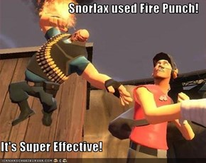 Snorlax used Fire Punch!  It's Super Effective!