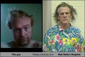 This guy Totally Looks Like Nick Nolte's Mugshot