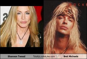Shannon Tweed Totally Looks Like Bret Michaels