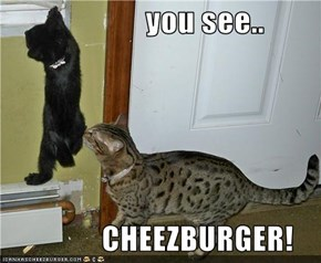 you see..                  CHEEZBURGER!