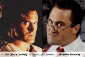 Ash (Bruce Cambell) Totally Looks Like IRS (Mike Rotunda)