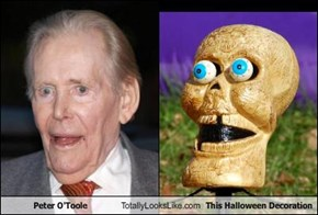 Peter O'Toole Totally Looks Like This Halloween Decoration