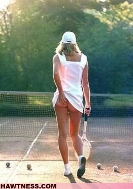 Tennis Makes Her Itchy