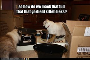 so how do we maek that fud that that garfield kitteh lieks?