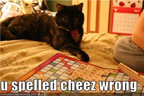 u spelled cheez wrong