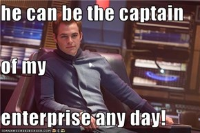 he can be the captain of my enterprise any day!