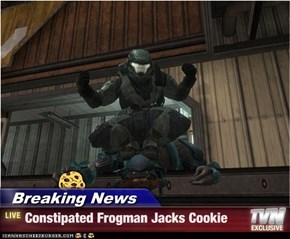 Breaking News - Constipated Frogman Jacks Cookie