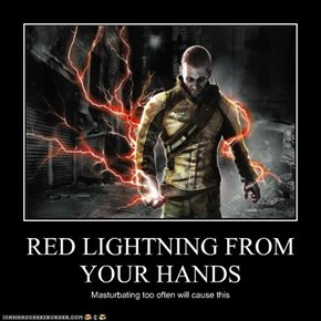 RED LIGHTNING FROM YOUR HANDS