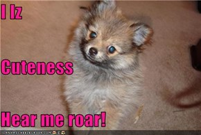 I Iz Cuteness Hear me roar!
