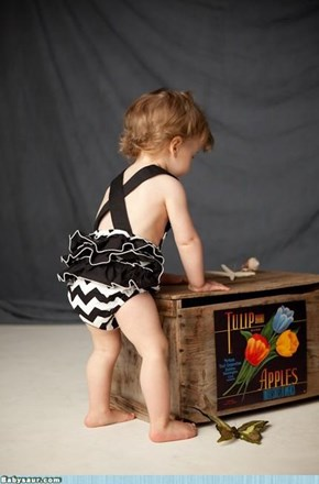 Vintage Chevron Swimsuit