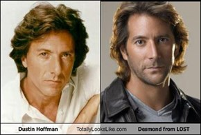 Dustin Hoffman Totally Looks Like Desmond from LOST