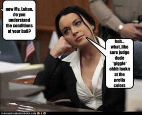 now Ms, Lohan, do you understand the conditions of your bail?
