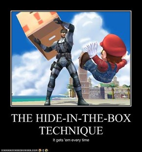 THE HIDE-IN-THE-BOX TECHNIQUE