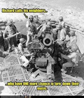Richard calls his neighbors...