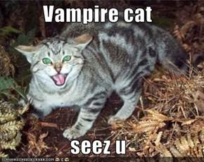 Vampire cat  seez u