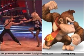 This guy dancing with Pamela Anderson Totally Looks Like Donkey Kong