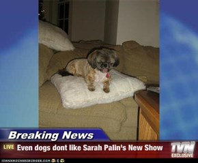 Breaking News - Even dogs dont like Sarah Palin's New Show
