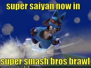 super saiyan now in     super smash bros brawl