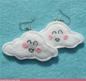 Happy Could Felt Earrings