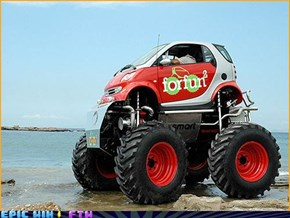 Smart Car, Meet Monster Truck