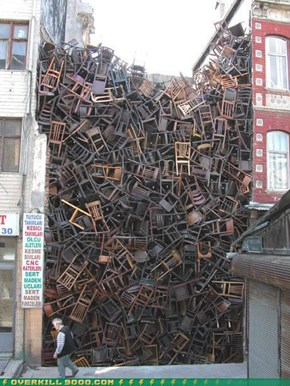 Suddenly Chairs...Thousands Of Them