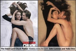 The Good Luck Chuck Poster Totally Looks Like John Lennon and Yoko Ono