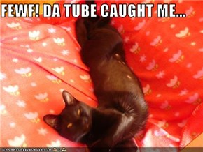 FEWF! DA TUBE CAUGHT ME...
