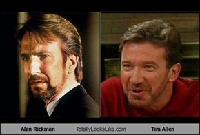 Alan Rickman Totally Looks Like Tim Allen