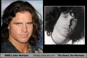 WWE's John Morrison Totally Looks Like The Doors' Jim Morrison