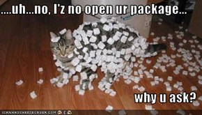 ....uh...no, I'z no open ur package...  why u ask?